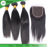 Cheveu brésilien de Remy de Vierge de 100% de prolonge non transformée de cheveux humains