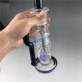 Plataforma petrolífera de fumo da água da tubulação de vidro preta do fabricante para a tubulação de vidro
