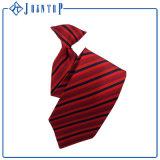 標準的な青い縞の絹によって編まれる均一ネクタイ