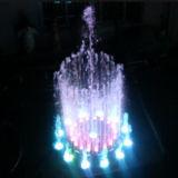 Caractéristique moyenne de l'eau de danse de fontaine de taille