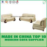 Cadeira de couro Home de madeira do sofá da mobília de Dubai Sectionals