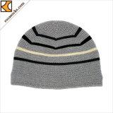 男女兼用の方法柔らかい編まれた縞のフォールドの帽子(166005BE)