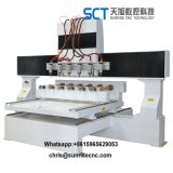 Cylinderical 3D Wood CNC Carving Cutting Router Machine