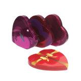 Corazón rojo de estaño metálico Caja de Chocolate