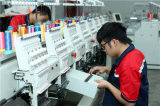 コンピュータ6の日本国内技術および部品が付いているヘッドFeiyaの刺繍機械