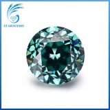 Corte de la vieja Europa 8.0mm 2cts Diamante Moissanite de color verde
