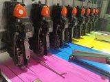 Livro de exercício de escola automático da costura de sela que faz a máquina