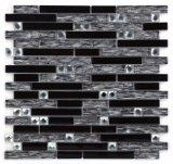 Heiße Verkaufs-Schwarzweiss-Farben-Kristallmosaik-Fliese für Dekoration