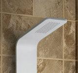 Panel de acero inoxidable en columna de ducha de pintura blanca (K2603)