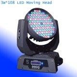 108 3W RGBW LED перемещение головки блока цилиндров при мойки DJ освещения
