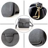 Bolsa de couro da camada do couro genuíno das mulheres saco de ombro longo da cinta da segunda para meninas