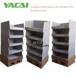 Palets de cartón apilables Pdqs mostrar con gran capacidad de utensilios de cocina