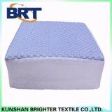 Cubierta de colchón impermeable del Rhombus del bombeo de la sensación de la capa fresca azul del aire