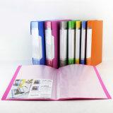 Affichage de dossier de la papeterie de livre clair livre avec poche intérieure