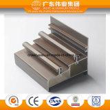 Profilo di alluminio del portello scorrevole della doppia pista del grano di legno rosso