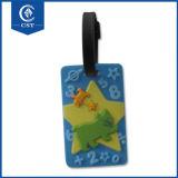 個人化された環境に優しい名札のカスタムロゴの大きさの荷物の札