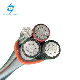 PVC проводника 1kv алюминиевый Alu или изолированный XLPE кабель для воздушных линий