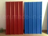 Hoja de techos de metal corrugado / Color RAL Teja para arrojar