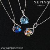 Collar-00426 Xuping Jwelleries, Bijouterie Collar Color Plata turco de joyas cristales de Swarovski