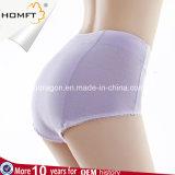 Le coton de dames plus le contrôle physiologique d'abdomen de sous-vêtements sanitaires de taille donne des instructions des culottes de menstruation d'Anti-Fuite