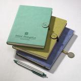 Le livre de livre À couverture dure a personnalisé le cahier promotionnel de carnet de notes à spirale de fil d'utilisation de bureau