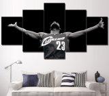 짜맞춰진 예술 5 위원회 인쇄 화포 NBA 예술 그림 벽 예술 홈 장식적인 마이아미 열 Lebron 제임스 농구 인쇄 유화