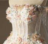 Vestidos 2018 nupciais do laço de Tulle do espartilho da flora do vestido de casamento Lb147