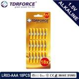 pile alcaline 1.5volt sèche primaire avec la carte d'ampoule de Ce/ISO 8PCS (taille de LR03-AAA)
