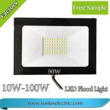 LEDの洪水ライト10W、20W、30W、50W、通りのための100W IP65-66 AC85-265V