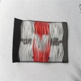 Custom gruesa tela poliéster de alta densidad de etiqueta tejida tejidos de prendas de vestir las etiquetas de nombre