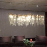 Metallmessingleuchter-Beleuchtung mit Kristallglas-Farbton