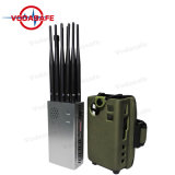 Una banda completa Jammer de bolsillo con 8000mA largo tiempo de trabajo Satify Atería sus requisitos de trabajo al aire libre CDMA/GSM/3G UMTS/4glte móvil +Gpsl/Glonassl1-5+Lojack