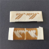 Custom de doble densidad de alta densidad final doblar las prendas de vestir las etiquetas de ropa de etiqueta tejida