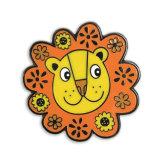 ライオンの円の形の漫画のカスタム堅いエナメルPin