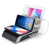 4 ports USB Station de recharge avec Qi Fast charge sans fil