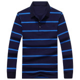 Fabricante dos homens camisa de mangas longas Listra de lazer elegante camisa Polo