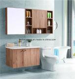La mode en bois moderne salle de bains en acier inoxydable de la porcelaine sanitaire de la vanité du Cabinet comme-1109
