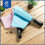 Super leves pega impresso transparente Mini guarda-chuva dobrável aberto
