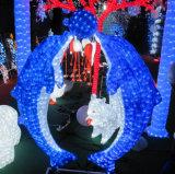 Impermeable al aire libre LED 3D de la luz de los delfines de mar artificial mundo