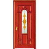 Внутренних Дел высокого качества закаленного стекла деревянной дверью для вилла (YH-6006)