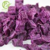 Cubes de pommes de terre déshydratées violet doux air séché violet pour plus de la transformation de pommes de terre