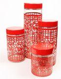 لون معدن طبقة زجاجيّة طعام مرطبان يثبت لأنّ مطبخ إستعمال