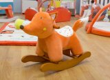 Het houten Schommelende Stuk speelgoed van het Paard van de dierlijk-Vos