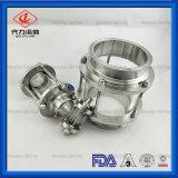 Medidas sanitarias el adaptador de tubería de acero inoxidable de vidrio Tipo de línea de la mirilla