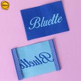 A extremidade da marca personalizado colorido Sinicline Dobre a etiqueta de tecido de alta densidade
