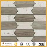 Mosaico di pietra di marmo naturale/del travertino per la parete della stanza da bagno, pavimento