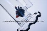 Pipe de fumage en verre de conduite d'eau de qualité avec l'oiseau fâché Perc