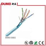 Câble LAN de ftp de l'usine Cat5e avec la jupe de PVC réussie par essai ou de PE de flet