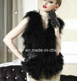 Womenのための女性Black Fur Vestの