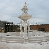 Giardino esterno Feature, Marble Stone Carved Water Fountain con Sculptured